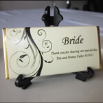 Personalised Chocolate Bars / Chocolate Bar Place Cards