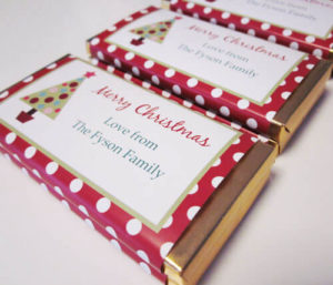 Personalised Christmas Chocolate Bars