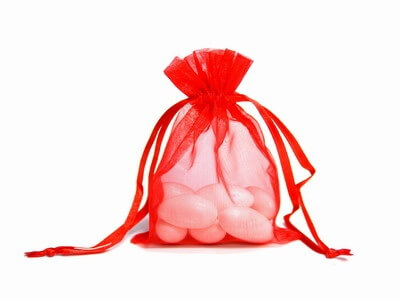 Red Organza Bags (Set of 10)