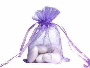 Purple Organza Bags (Set of 10)