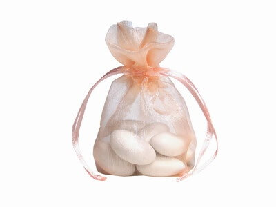 Peach Organza Bags (Set of 10)