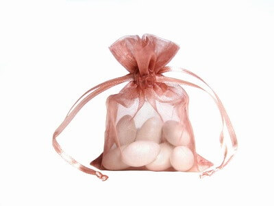 Mauve Organza Bags (Set of 10)