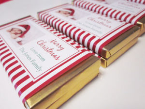 Personalised Photo Christmas Chocolate Bar Favours