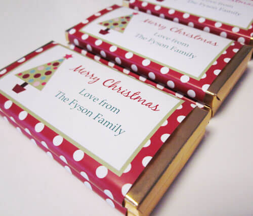 Personalised Christmas Chocolate Bars - Tree Design