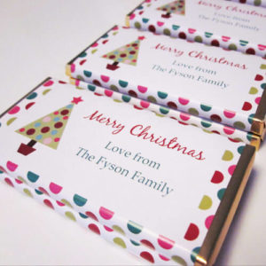 Personalised Christmas Chocolate Bars - Tree Design 3