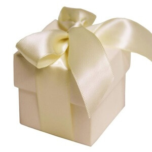 Ivory Favour Boxes With Lids (Set of 10)
