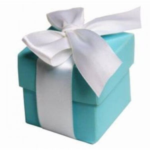 Turquoise Favour Boxes With Lids (Set of 10)