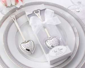 Tea Time Heart Tea Infuser Favor in Teatime Gift Box