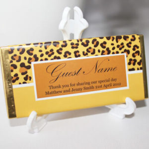 Personalised Chocolate Bar Favours - Jungle Design