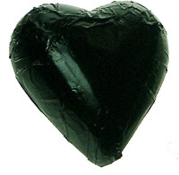 Black Milk Chocolate Heart Bomboniere (100 peices)