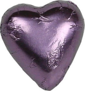 Lilac Milk Chocolate Heart Bomboniere (100 peices)