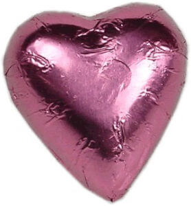 Pink Milk Chocolate Heart Bomboniere (100 peices)