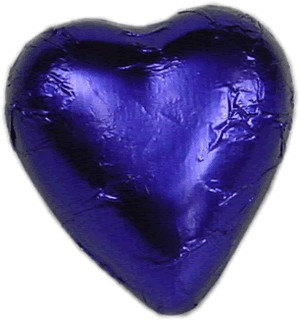 Violet Milk Chocolate Heart Bomboniere (100 peices)
