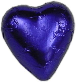 Violet Milk Chocolate Heart Bomboniere (100 peices)
