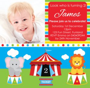 Personalised Photo Invitation - A Day At The Circus