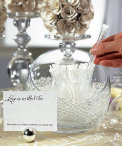 "Wedding ""Love Bubble"" Wands (Set of 24)"