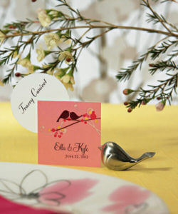Sweet Love Bird Place Card / Menu Holder Favours