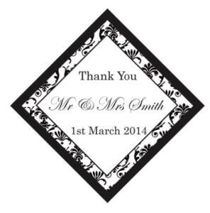 Set of 50 Personalised Gift Tags - Damask Design