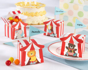 "SUPER SALE! Set of 24 Circus Animal Design ""Big Top"" Favour Boxes"
