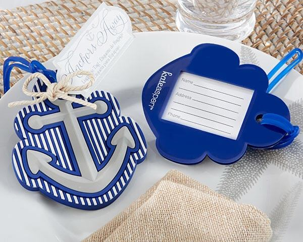 """Anchors Away"" Luggage Tag Favour/Bomboniere"