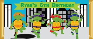 Personalised Chocolate Bar Favours -Ninja Turtles Design