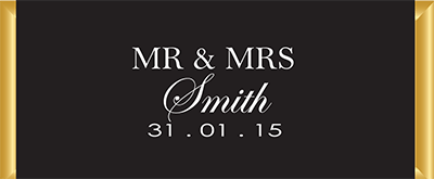 Personalised Chocolate Bar Favours - Mr & Mrs Design