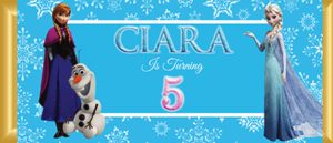Personalised Chocolate Bar Favours - Frozen Elsa & Anna Design