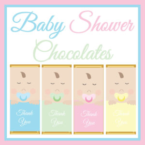 Baby Shower Chocolate Bars