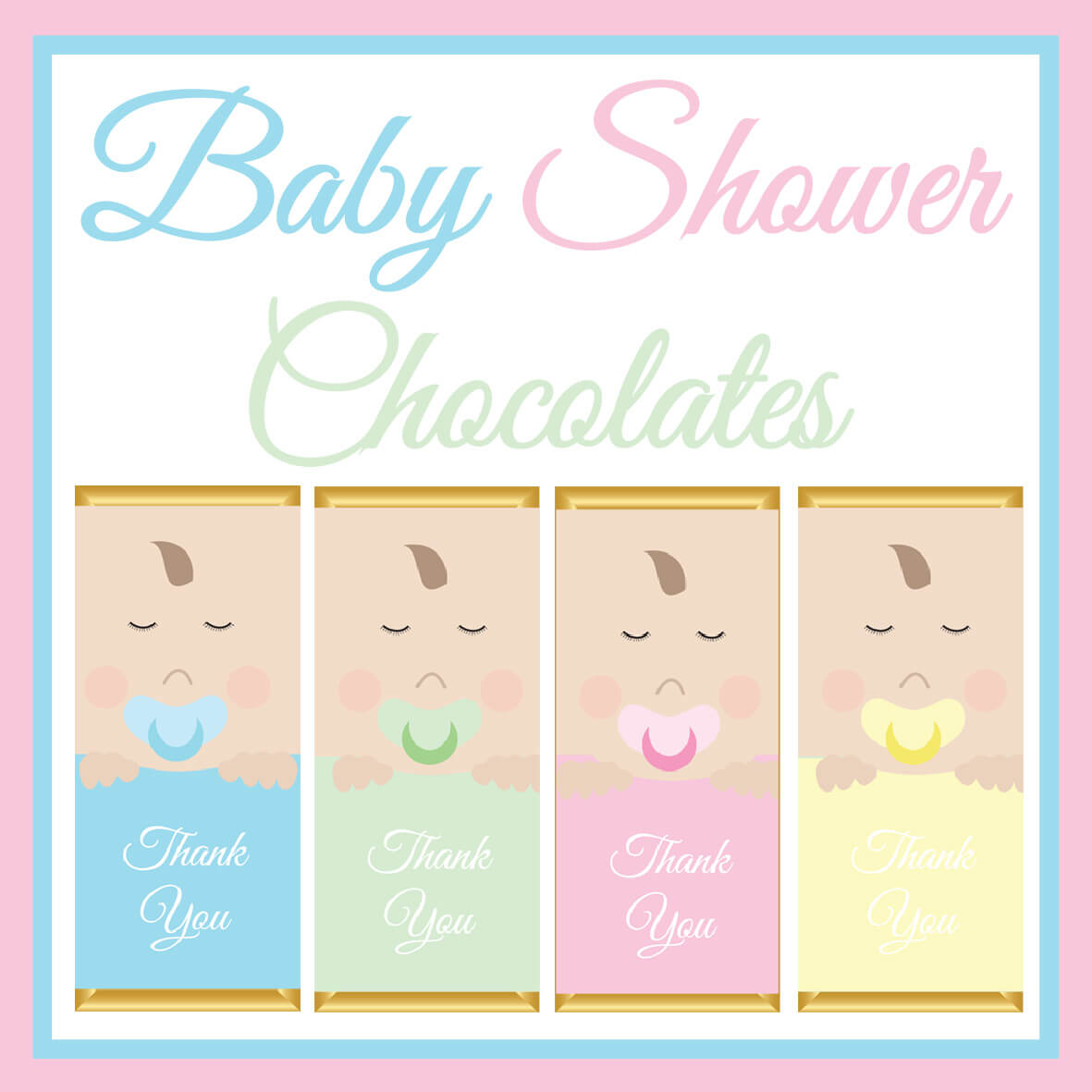 Baby Shower Chocolate Bars