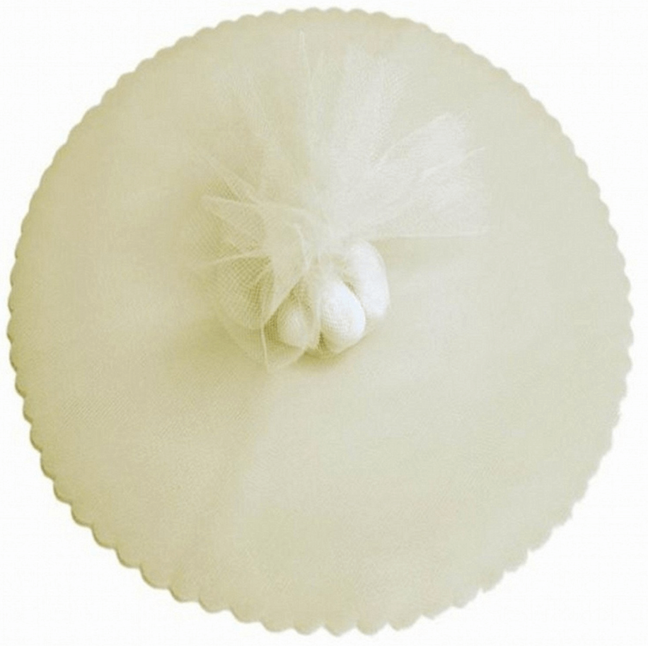 ivory tulle circle
