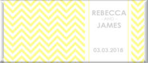 yellow chevron personalised chocolate bar