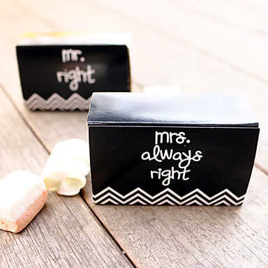 mr right mrs always right favour boxes