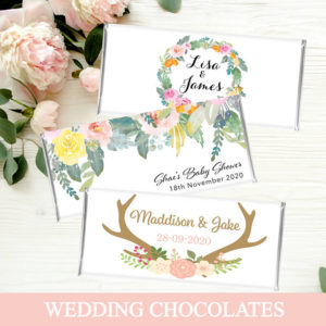 Personalised Wedding Chocolates
